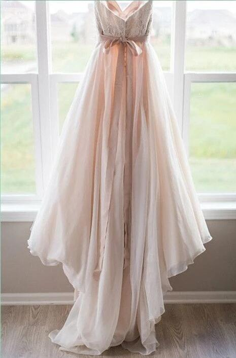 2020 Wedding Dresses Sweetheart Blush Bowknot Tulle with Lace W6530