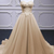 Sweetheart Champagne Tulle A Line Beaded Long Lace Pageant Dress Sweetheart