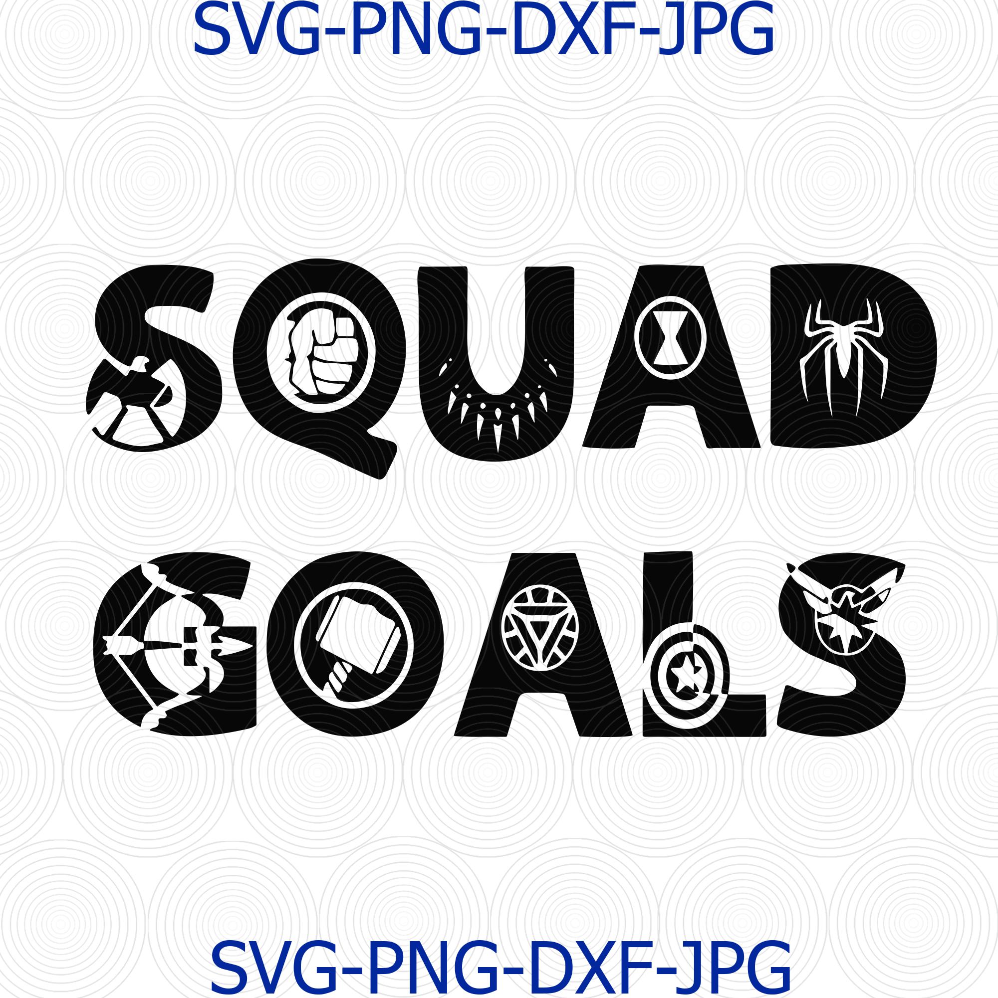 Squad Goal Svg Avengers Svg Thor Captain By Digital4u On Zibbet