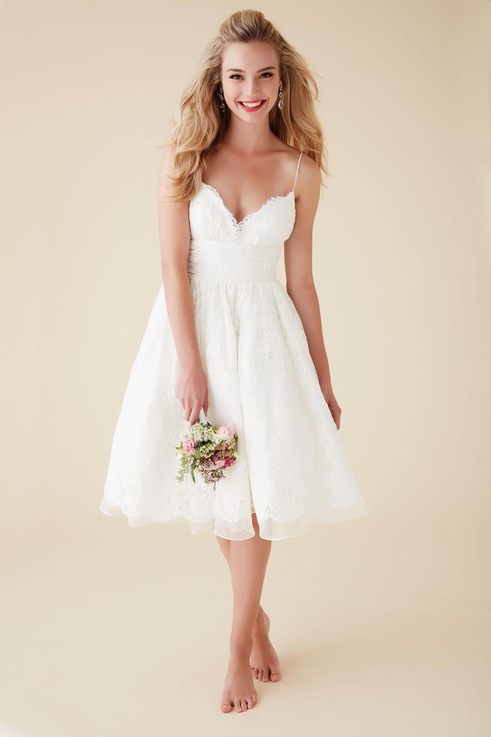 Cute Short Beach Wedding Dresses V Neck Spaghetti Straps Knee Length Sexy