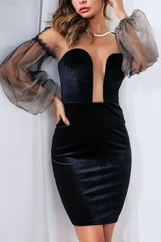 Sexy Deep V Neck Backless Homecoming Dress