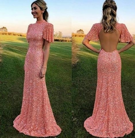 Open Back Mearmaid Prom Dresses