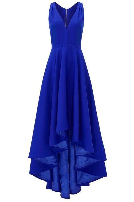 Royal Blue HI-Low Prom Dress