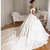 Simple A-line Wedding Dresses 2020 Off The Shoulder Satin Wedding Gowns Zipper