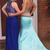 Sexy V neck Blue Mermaid Prom Dresses, Beaded Wedding Party Gowns, Long Evening
