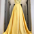 Yellow A Line Prom Dresses, Simple Sleeveless Long Evening Dress