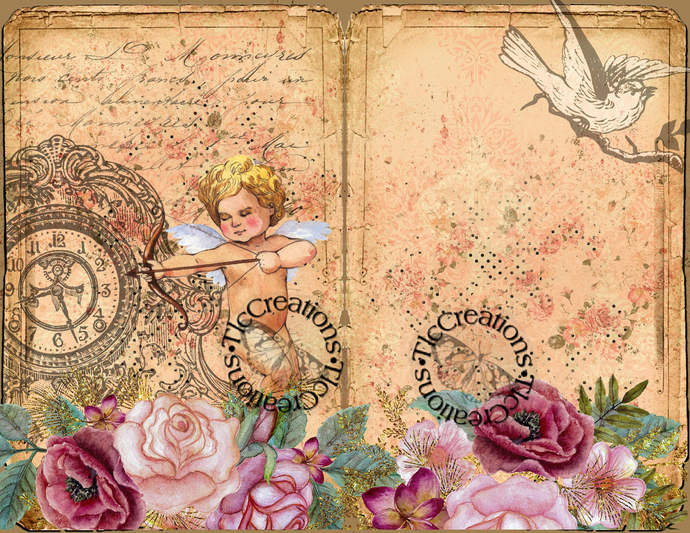 Cupid's Quest Digital Printable Junk Journal Kit Scrapbook