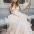 Pink V neck Tulle Long Prom Dress Formal Dress