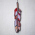 """""""Blessings,"""" Stained Glass Meditation Feather with Red Lace Agate"""