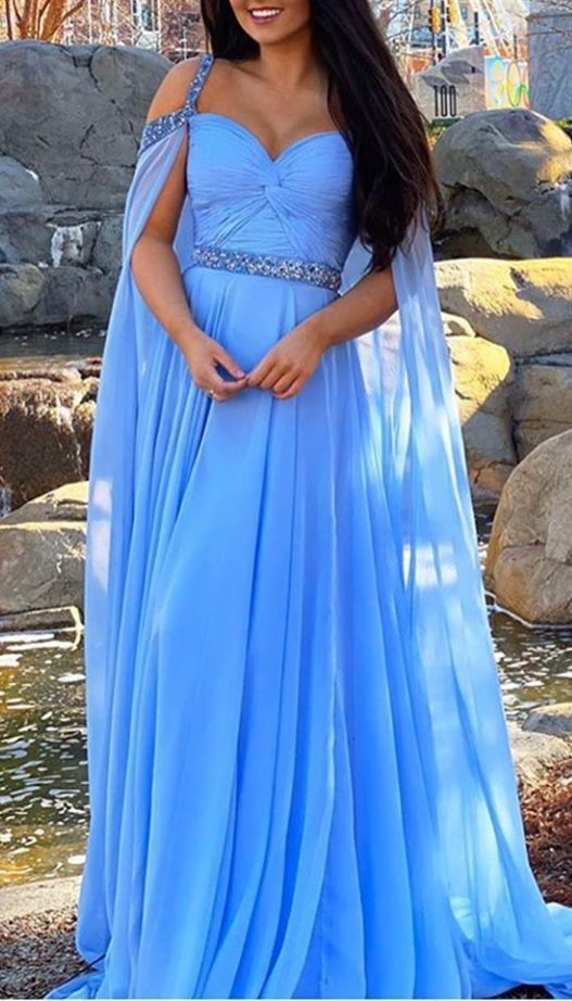 princess long prom dresses, modest blue prom gowns, pretty prom dresses with