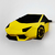 DIY Papercraft Lamborghini Car,Wall installation,Paper Car,3d Car,Party