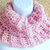 Outlander-inspired Cowl, chunky crocheted in Pink Parfait double-thick acrylic