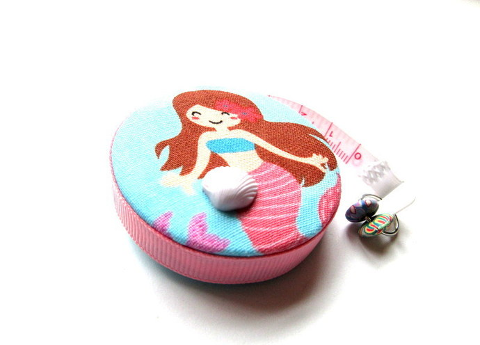 Tape Measure Mermaid in the Sea  Small Retractable Tape Measure