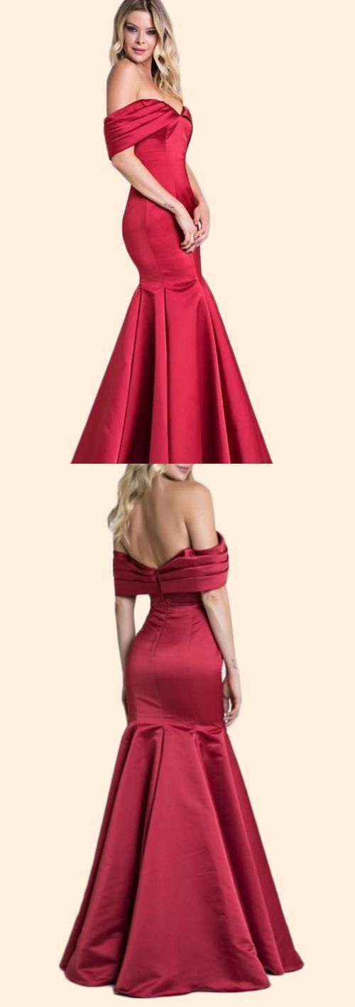 Gorgeous Off the Shoulder Mermaid Prom Dress Elegant Formal Evening Gown ,Custom