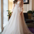 A-Line Bateau Long Prom Dresses, Modest Appliques Wedding Dresses, Long Sleeve