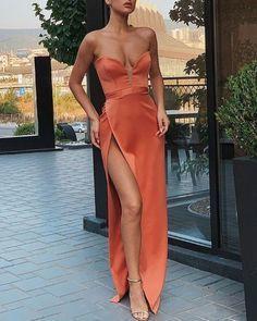 Sexy Slit Slim Sleeveless Prom Dress
