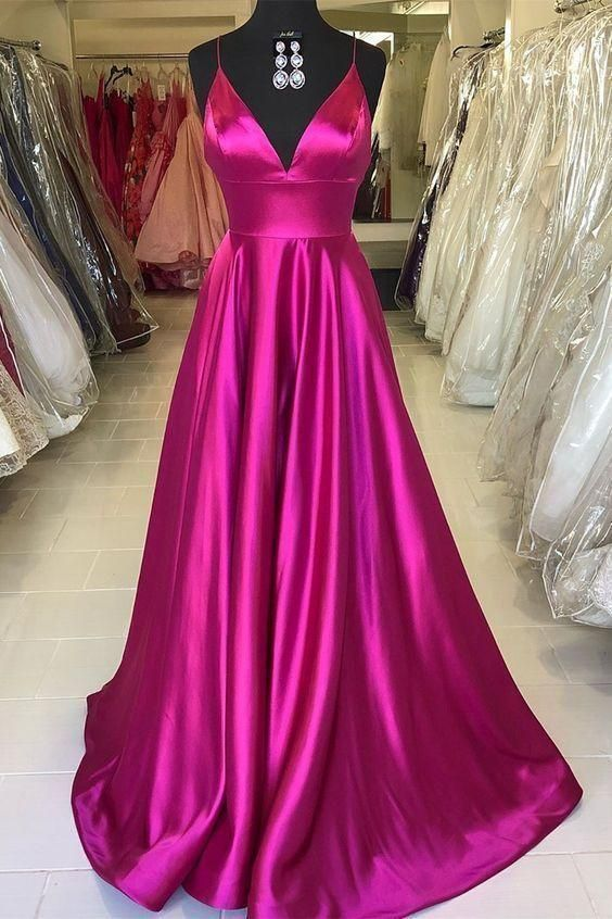 Prom Dresses Elegant, Rose Red Prom Dress Evening Dress Formal Occasion Party