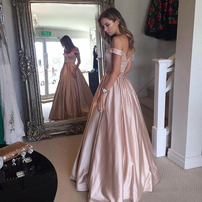 Elegant Red Wine Ball Gowns Prom Dresses Off Shoulder Crystal Beaded Sash Satin