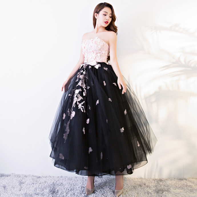 Strapless Ball Gown Lace-Up Knee Length Prom Dress 8002094