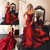 Red Evening Gowns 2020 Runway Modern Halter Satin Prom Dresses Sexy Backless