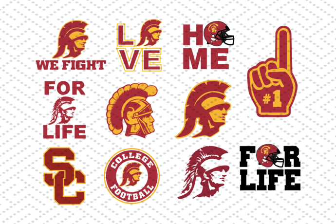 USC trojans svg, bundle NFL team svg, bundle NCAA team svg, football team logo
