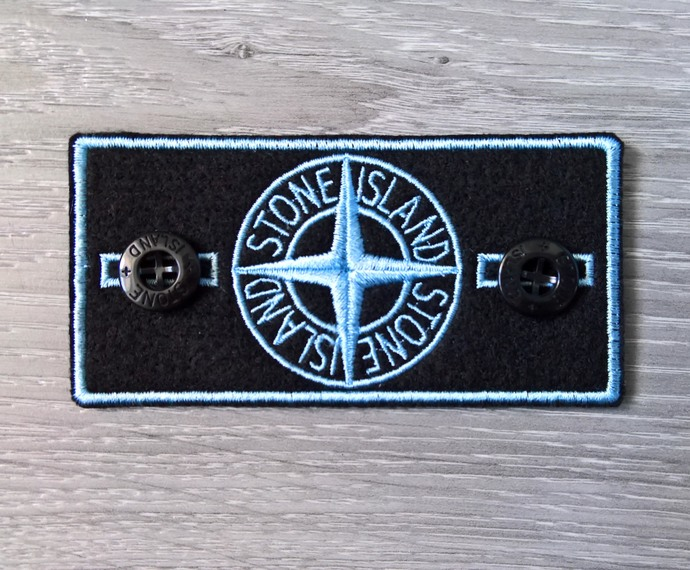 Stone Island patch Blue badge with two buttons