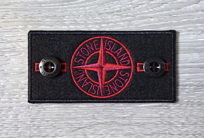 Stone Island patch Red badge with two buttons