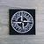 Stone Island patch Universal white badge with two buttons