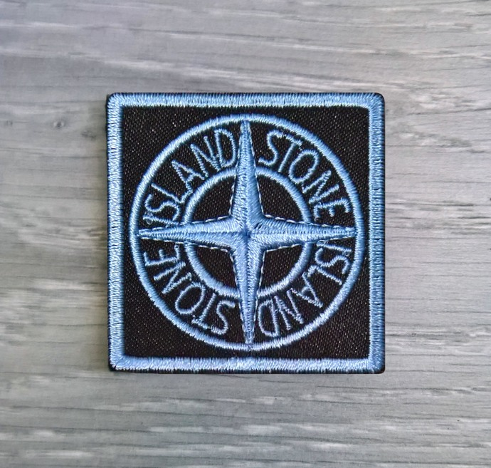 Copy of Stone Island patch Universal blue badge with two buttons