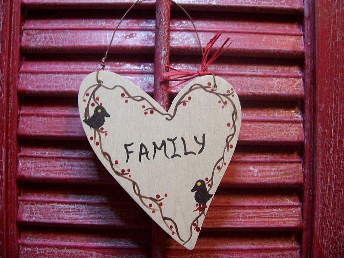 FAMILY Heart  Decoration