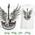 Guitar skull wings rock DIY iron on transfers for t shirts sublimation vinyl