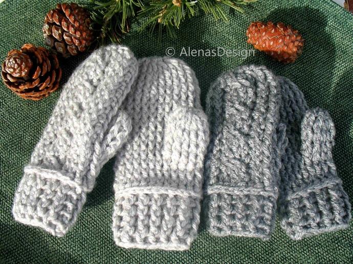 Children's Mittens Crochet Pattern 247 Kids Mittens Cabled Mittens Crochet Glove