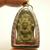 Antique Phra Nakprok Sukhothai Lord Buddha protect by 7 heads Naga snake Thai