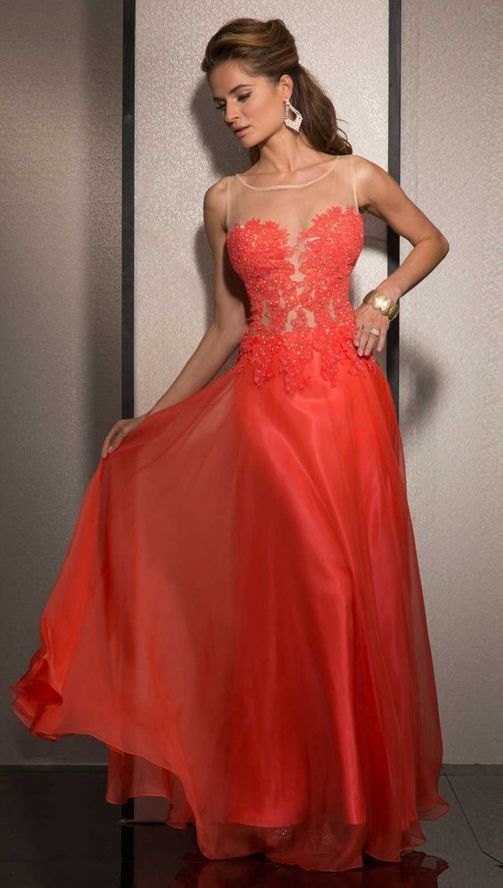 A-line Prom Dress With Appliques