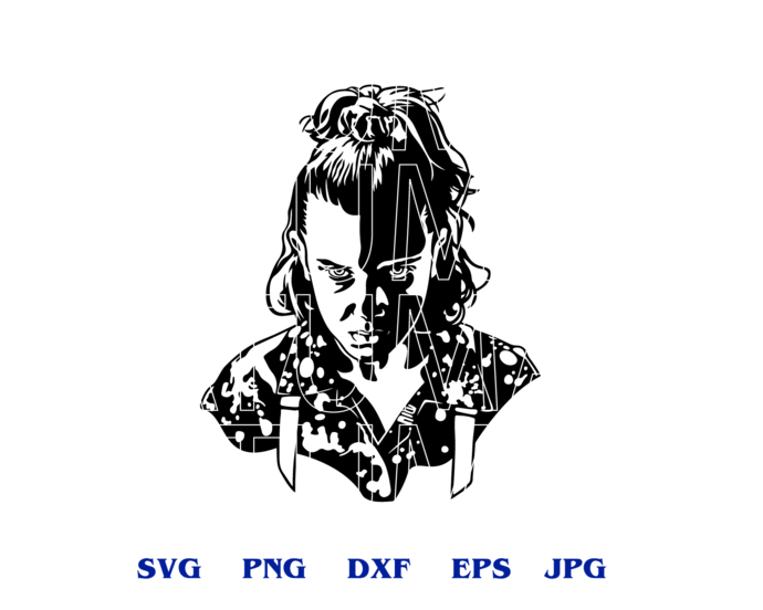 Stranger things Eleven stencil SVG Stranger things clipart shirt Party Gift svg