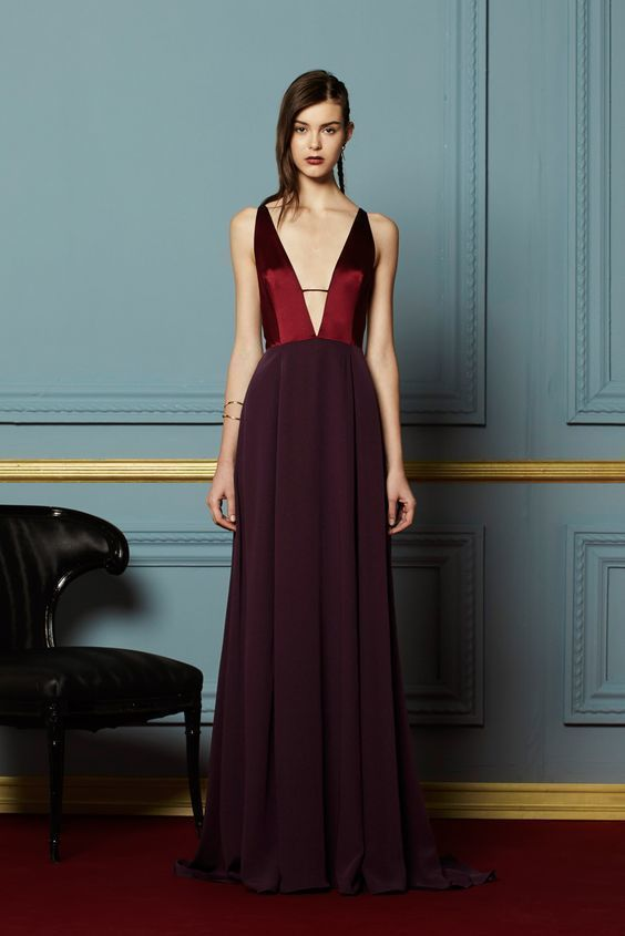New Prom Dress,Long Prom Dresses,Burgundy Evening Dress,Sexy Spaghetti Straps