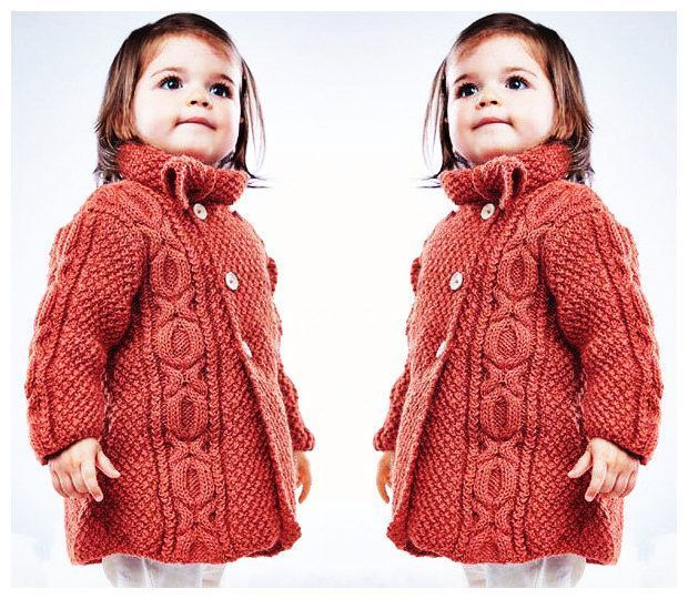 Instant PDF Digital Download Vintage Knitting Pattern  Baby/Girl's Aran Style