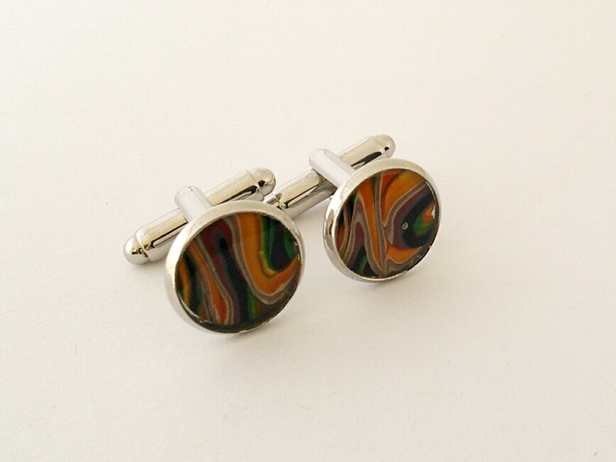 Art Cufflinks in Shades of Multi Colours