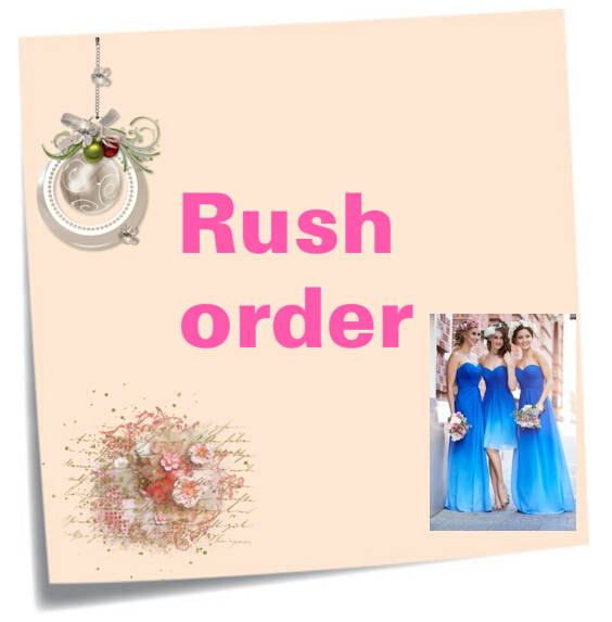 Extra Cost of Rush Order, Get goods within 7-10 days