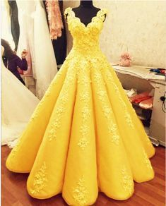Charming Ball Gown Prom Dresses Lace Embroidery,prom dress