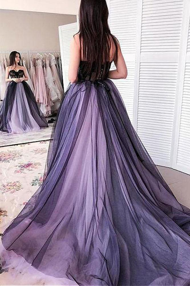 Beautiful A Line Sweetheart Navy Blue Long Prom/Evening Dresses with Appliques