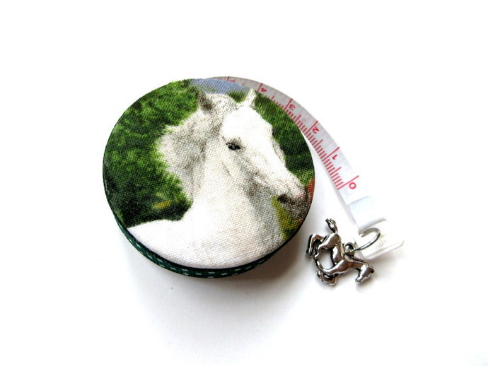 Tape Measure White Horses Small Retractable Measuring Tape