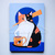 Calico Cat with Tea Original Cat Folk Art Painting