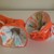 Orange corduroy baby TV booties/soft sole shoes SIZE LARGE