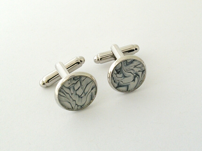 Art Cufflinks in Shades of Black and White