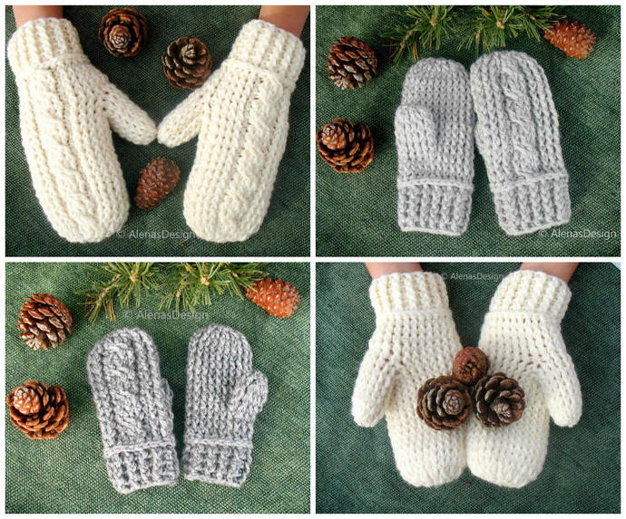 Kids Mittens Crochet Pattern 247 Cabled Mittens Crochet Glove Pattern Children's
