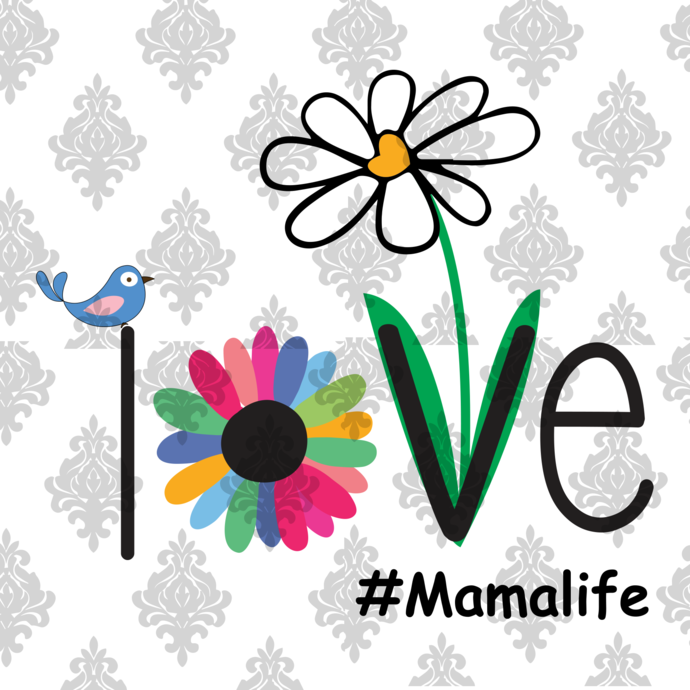 Love mama life, mama gift,awesome mama,happy mother's day,adopted gift, love