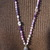The Balancing Necklace by KnottedUp Long Beaded Necklace with Druzy pendant Hand