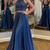 Two Pieces Prom Dress,Satin Prom Dress,Beading Prom dress