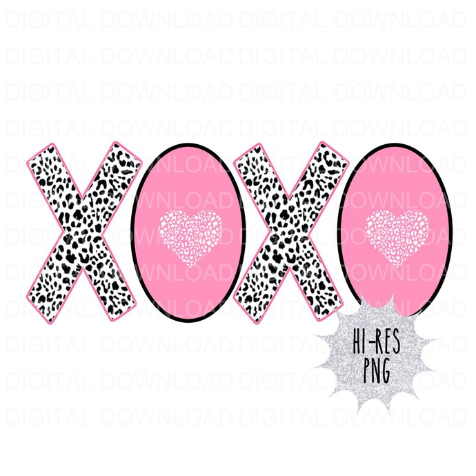 Pink XOXO Digital Download PNG